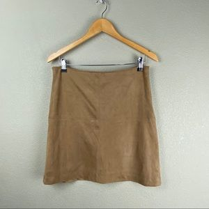 Artisan NY 4 faux suede lined camel mini skirt